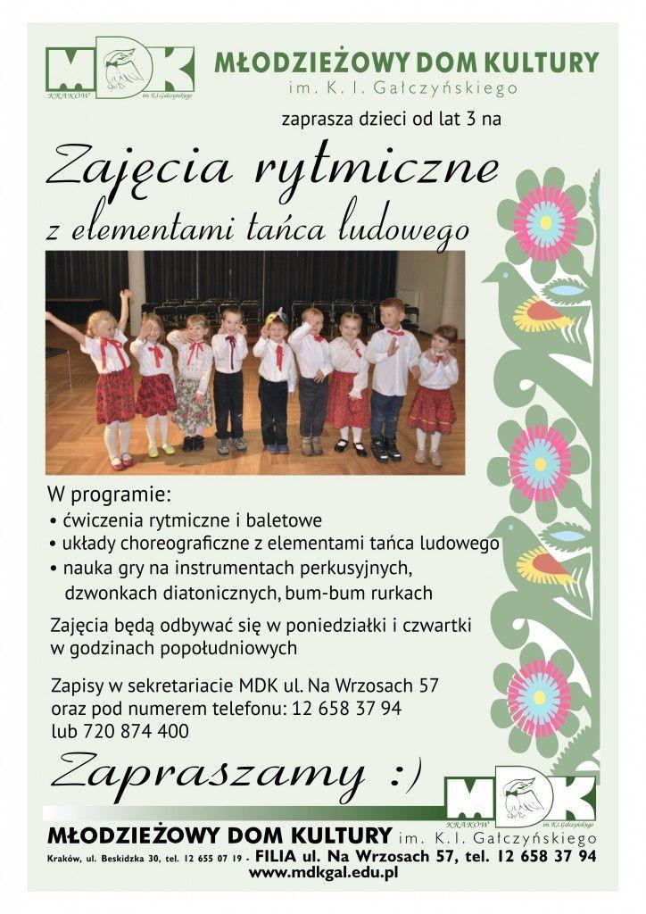 Zabawy i tance ludowe plakat