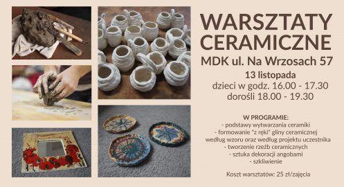 Warsztaty ceramiczne – listopad