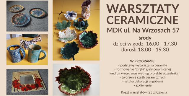 Warsztaty ceramiczne w MDK