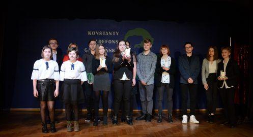 """Spotkanie laureatów konkursu poetyckiego """"O zielone pióro"""" oraz teatralnego """"A niech to gęś kopnie"""""""