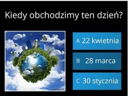 Światowy Dzień Ziemi – quiz