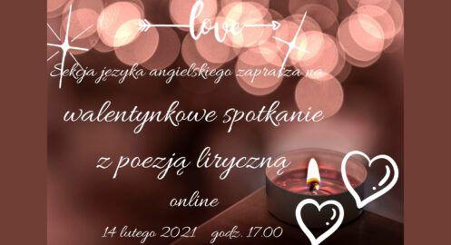 Walentynkowe spotkanie z poezją liryczną wraz z sekcją języka angielskiego