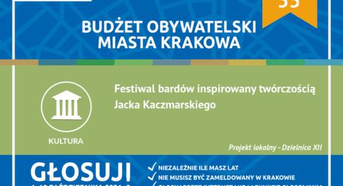 BO2021 – Projekt Dzielnicy XII – Festiwal bardów inspirowany twórczością Jacka Kaczmarskiego